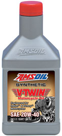 AMSOIL 20W-40 Synthetic V-Twin Motorcycle Oil